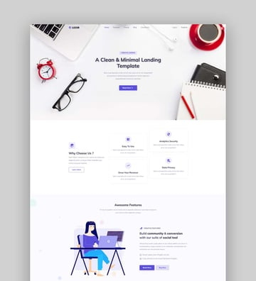Lezir - Bootstrap 5 Landing Page Template
