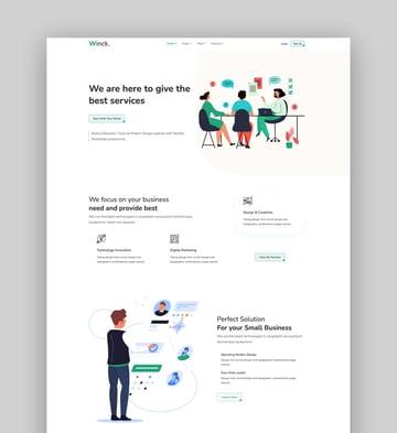 Winck - Bootstrap 5 Multipurpose Landing Page