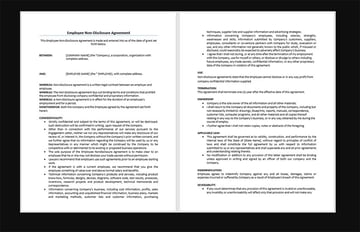9 Free Employee Non-Disclosure Agreement Templates