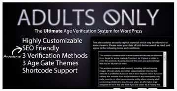Adults Only Age Verification System for WordPress