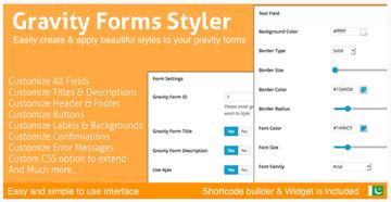 Gravity Forms Styler