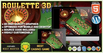 3D Roulette - HTML5 Casino Game