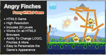 Angry Finches - Funny HTML5 Game