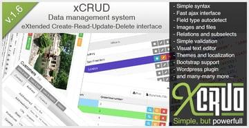 xCRUD - Data Management System PHP CRUD