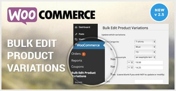 WooCommerce Bulk Edit Variable Products Prices