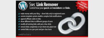 5sec Link Remover - A Membership Extension Plugin