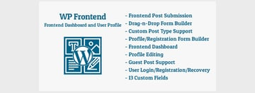 WP Frontend - WordPress Frontend Dashboard and User Profile Plugin