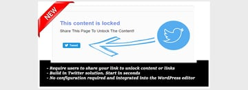 Tweet to Unlock for WordPress
