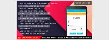 Secure Auth Simple and Easy Login System