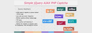 Simple jQuery AJAX PHP Captcha