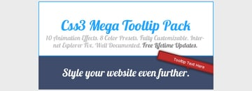 CSS3 Mega Tooltip Animation Pack