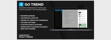 Popular Posts Widget for WordPress - Go Trend