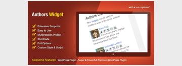 Authors Widget - WordPress Premium Plugin