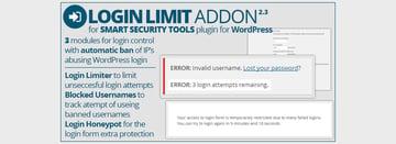 Smart Security Tools Login Limit Addon