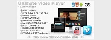 Ultimate Video Player with YouTube Vimeo HTML5 Ads