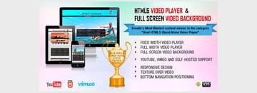 HTML5 Video Player FullScreen Video Background