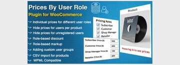WooCommerce Prices By User Role