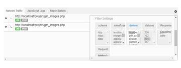BugReplay Network Tab Filters