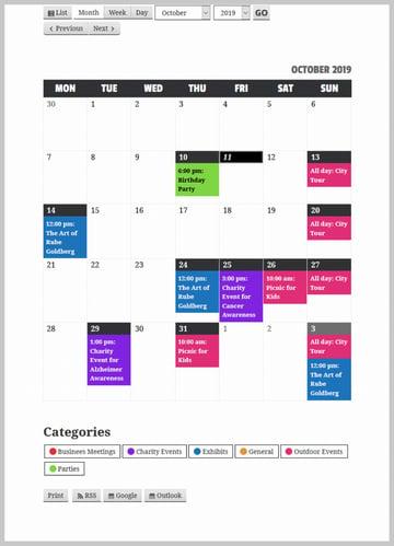 My Calendar Final Result