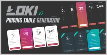 Loki Pricing Table Generator