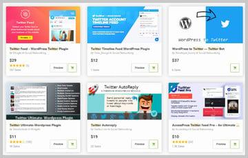 WordPress Twitter Widgets on Codecanyon
