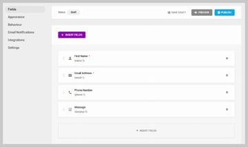 Forminator Pre-Added Contact Form Fields