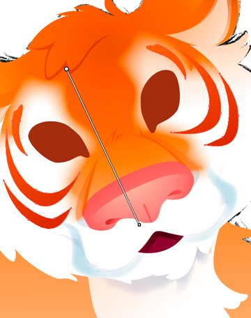Adding the Stripes to the Face