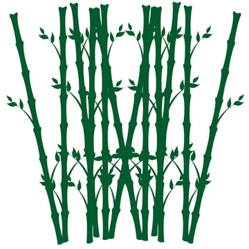 Grouping Bamboo to Make Background Element