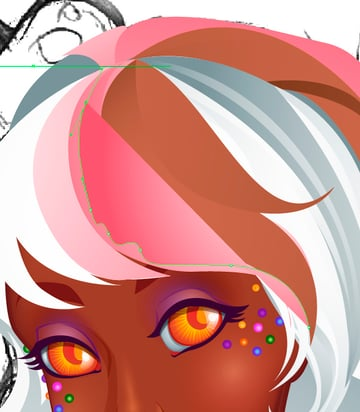 Adding Strawberry Drips to Hair 1