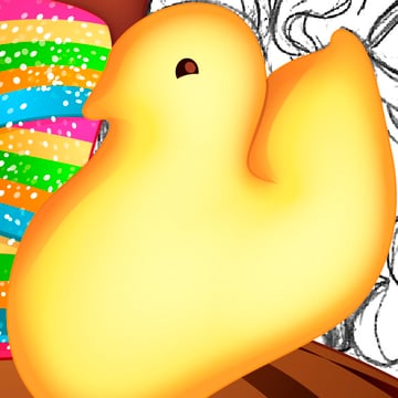 Making a Marshmallow Peep 3