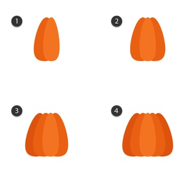creating the shape of the pumpkin 2