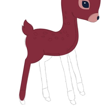 drawing the hind leg