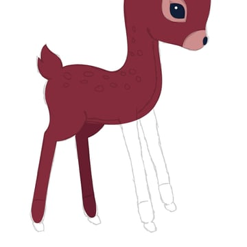 drawing the second hind leg