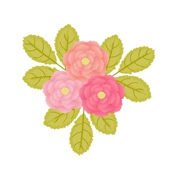composing the flower arrangement