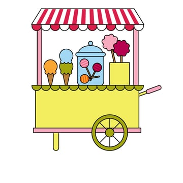 placing the jur on the candy cart