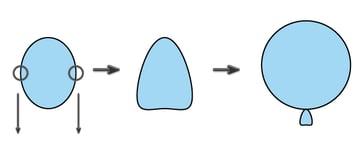 creating the blue balloon