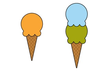 creating different colors of ice creams