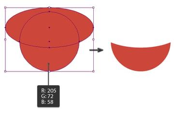 creating the watermelon base shape