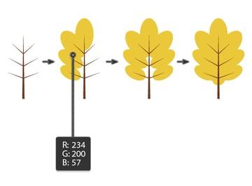 creating the oak leaf