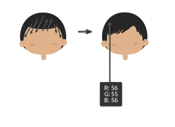 creating the hairstyle 2