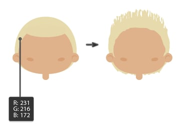 creating the hairstyle 3