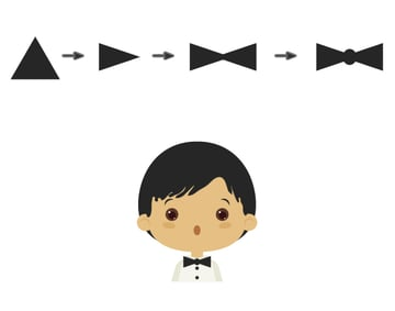 creating the bow tie
