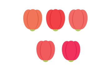 recoloring tulips