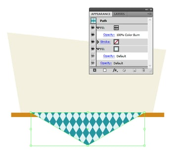 creating the pattern of the tablecloth