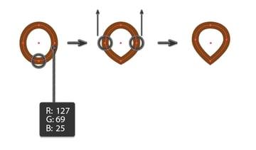 creating the pretzel