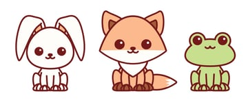 placing all kawaii characters together