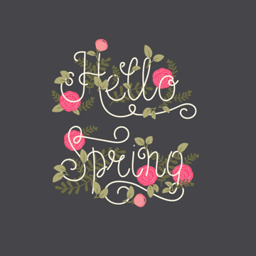 placing buds on lettering