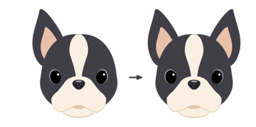 placing the ear and creating another one