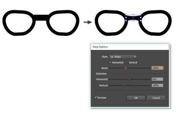 creating the glasses 2