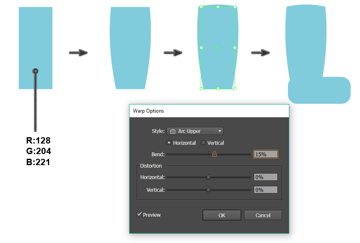 creating the rain boot shape Arc Upper options